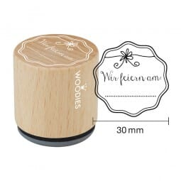 Woodies Stempel - Wir feiern am