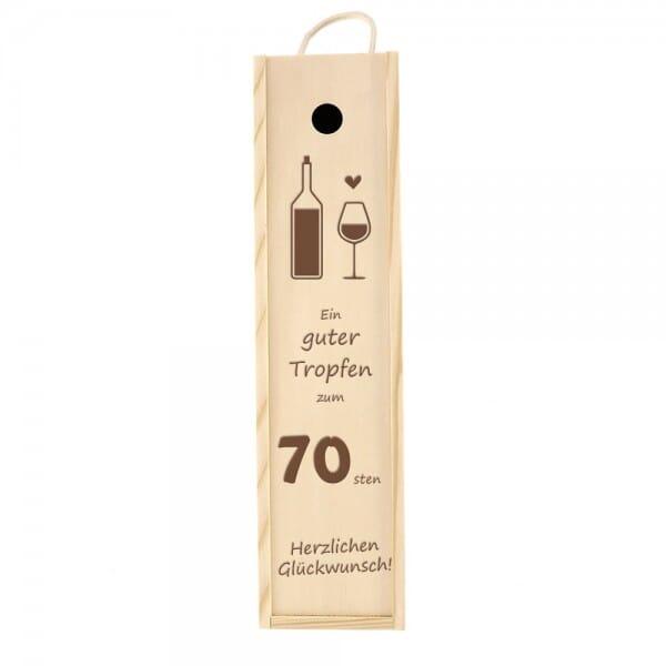Weinkiste/Geschenkkiste zum 70. Geburtstag