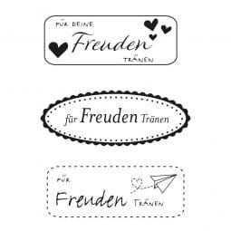 Hochzeit - Freudentränen eckig (40x10 mm)