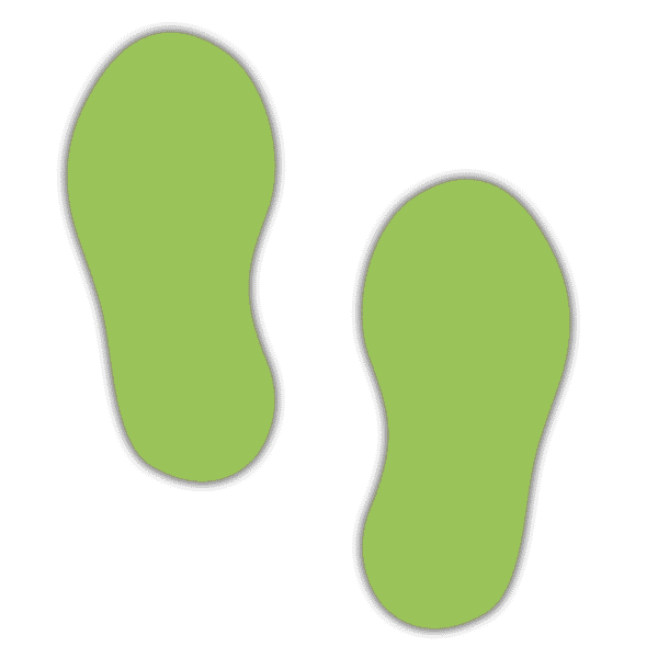 Fußbodenaufkleber Fußpaar - (10 Paar - Fußgröße 250x110 mm)