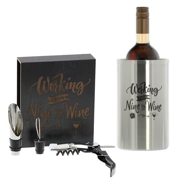 Genießer-SET (Weinkühler + 3-teiliges Weinset)