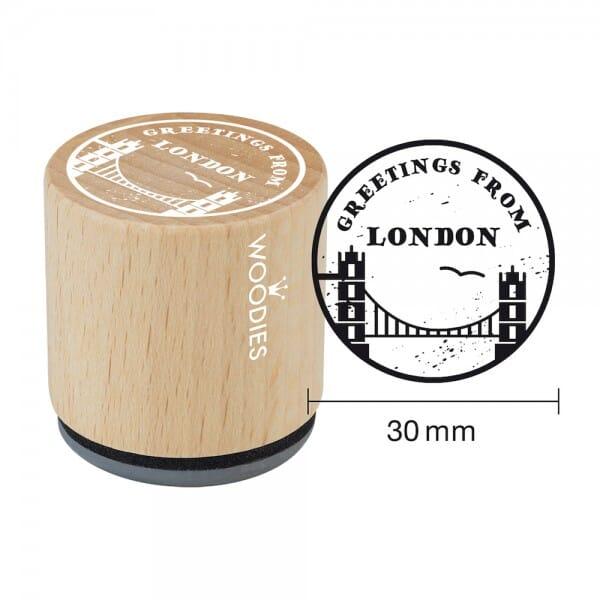 Woodies Stempel - Greetings (Towerbridge) bei Stempel-Fabrik