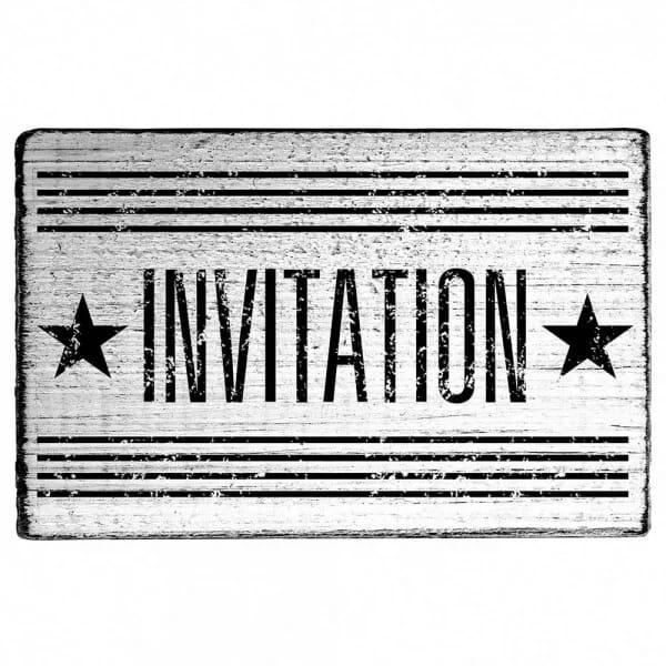 """Vintage Stempel """"Invitation"""""""