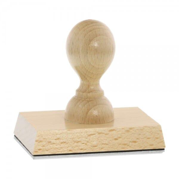 Holzstempel (90x60 mm - 14 Zeilen)