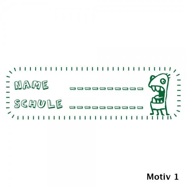 Holzstempel Namensstempel für Schüler (70x20 mm)