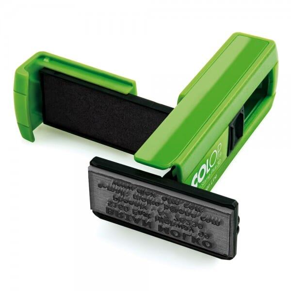 Colop Pocket Stamp Plus 30 Green Line (47x18 mm - 5 Zeilen)
