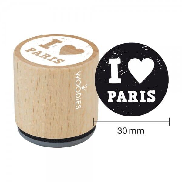 Woodies Stempel - I Love Paris