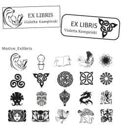Exlibris Holzstempel / Imprint 13 (57x21 mm)