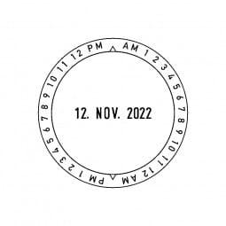 Colop Platten-Datumstempel P 700 UZ 12h (ø50 mm)