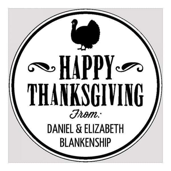 Monogramm-Prägezange rund - Happy Thanksgiving