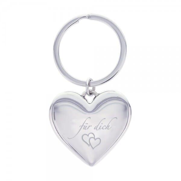 Motiv-Schlüsselanhänger Herz / für dich