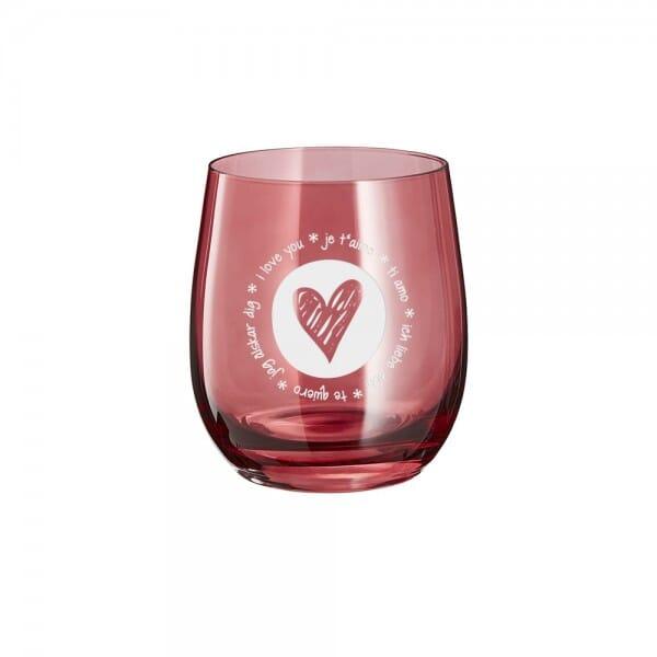 "Lasergraviertes Glas klein ""Love"" - Leonardo®"