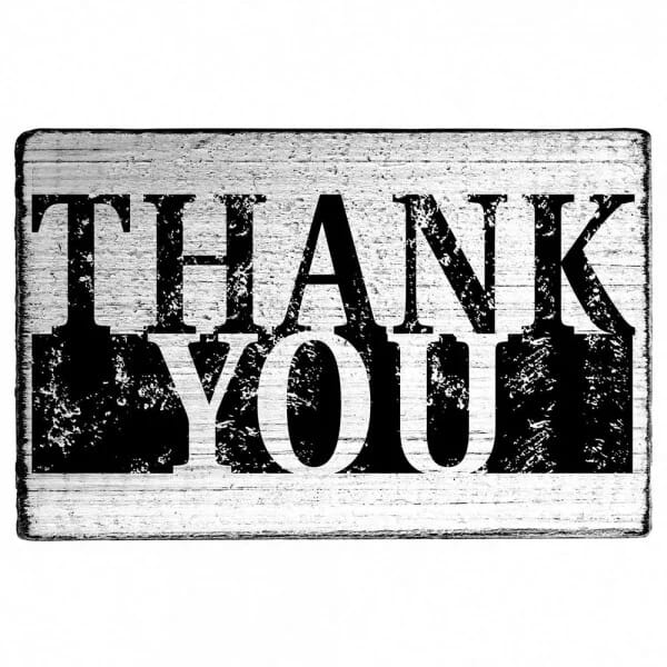 "Vintage Stempel ""THANK YOU"" Motiv 2"