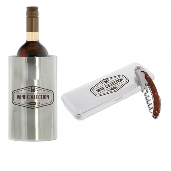 Genießer-SET (Weinkühler + Kellnermesser)