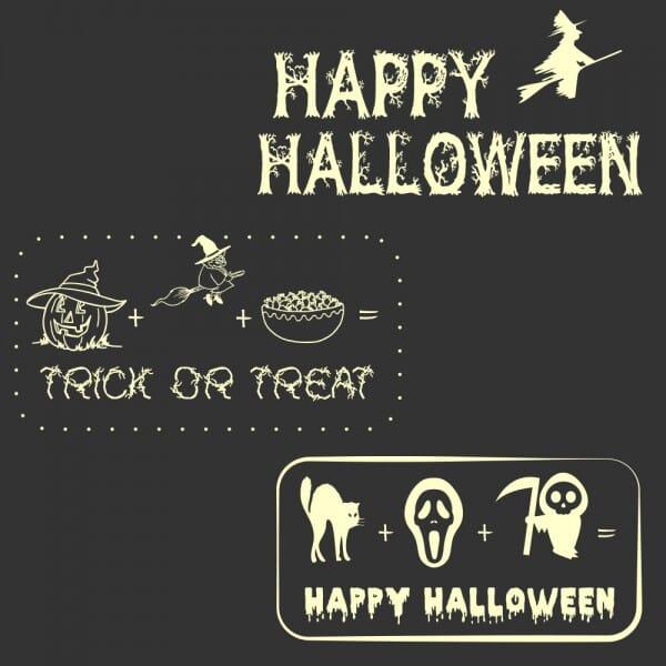 Halloween - Holzstempel (60x30 mm)