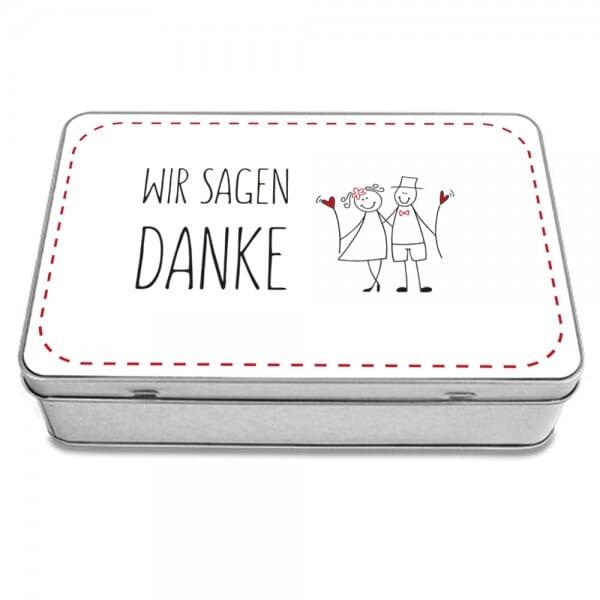 "Keksdose & Geschenkdose ""Wir sagen Danke"""