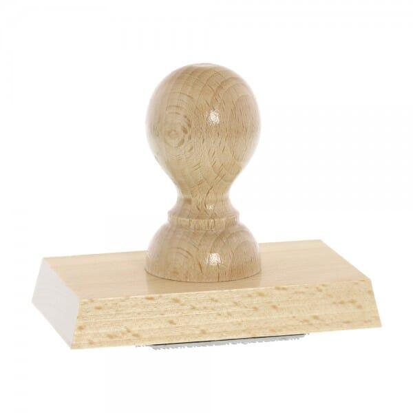 Holzstempel (100x60 mm - 12 Zeilen)