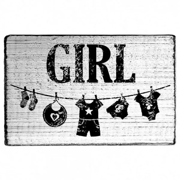 "Vintage Stempel ""Girl"""