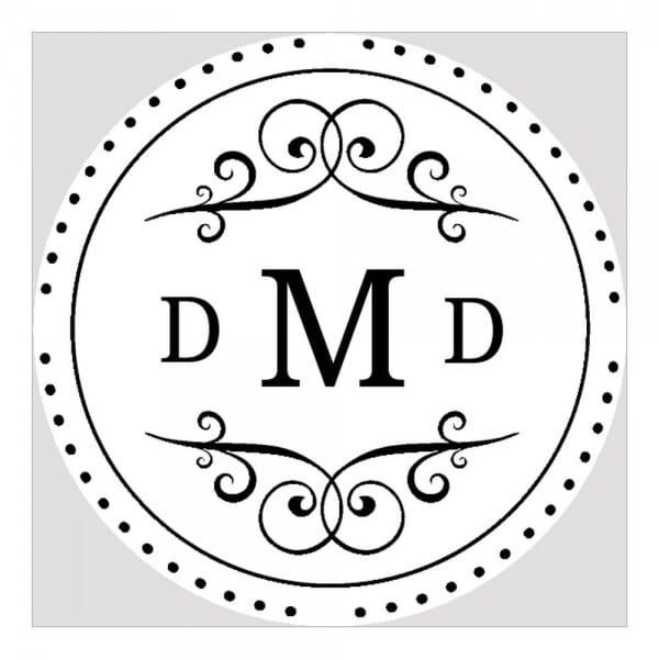 Monogramm-Prägezange rund - Fantasie
