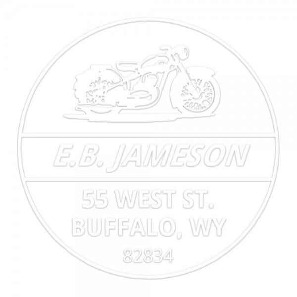 Monogramm-Prägezange 51 mm rund - Motorrad