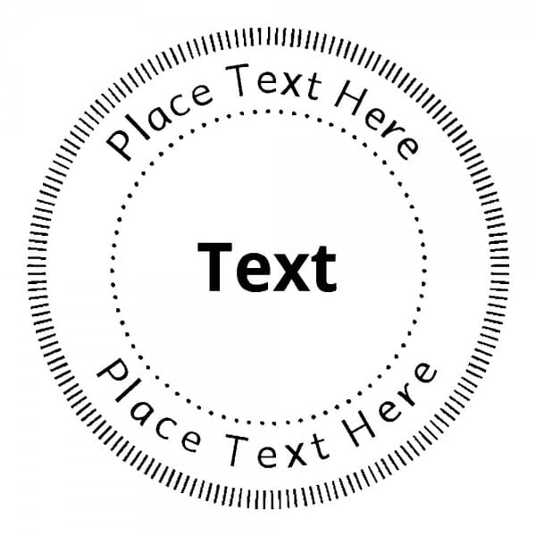 Monogrammstempel rund - Gepunktete dekorative Kreise
