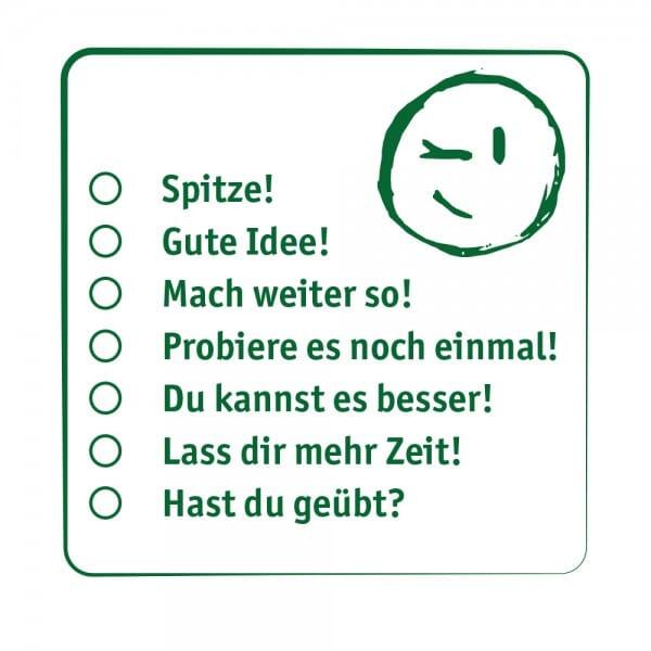 Pädagogik Holzstempel - Smiley Auswahl(50x50mm)
