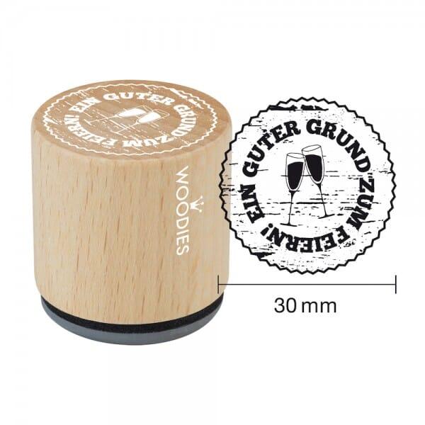 Woodies Stempel - Guter Grund zum Feiern - Gläser W02005