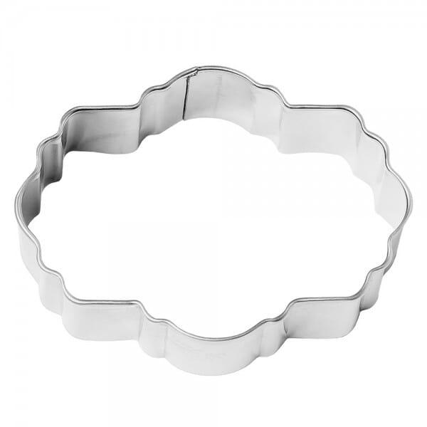 Ausstechring für Keksstempel Etikett Posie (80 mm) bei Stempel-Fabrik