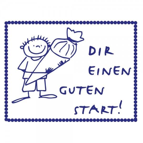 Pädagogik Holzstempel - Guter Start - Junge (40x30 mm)