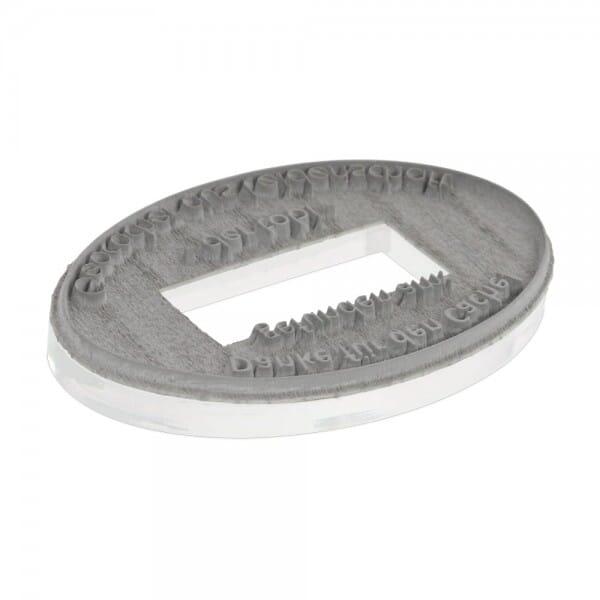 Textplatte für 2910 P20 oval (67x44 mm - 4 Zeilen)