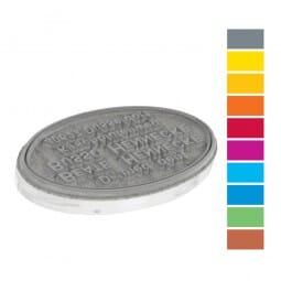 Textplatte für Trodat Printy PREMIUM 44055 oval (55x35 mm - 10 Zeilen)