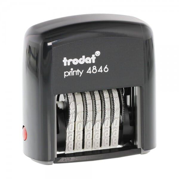 Trodat Printy 4846 Ziffernbandstempel (SH 4 mm - 6 Stellen)