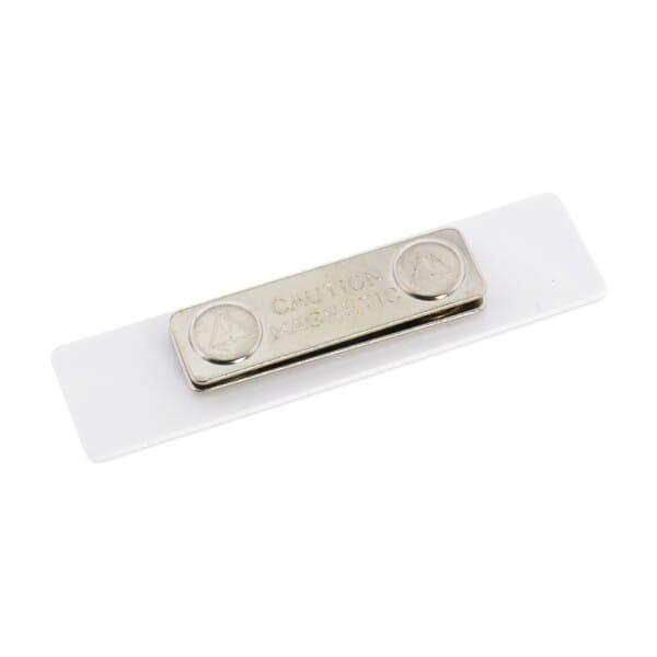 Kunststoff Namensschild mit Magnetbefestigung (80x20 mm - 3 Zeilen)