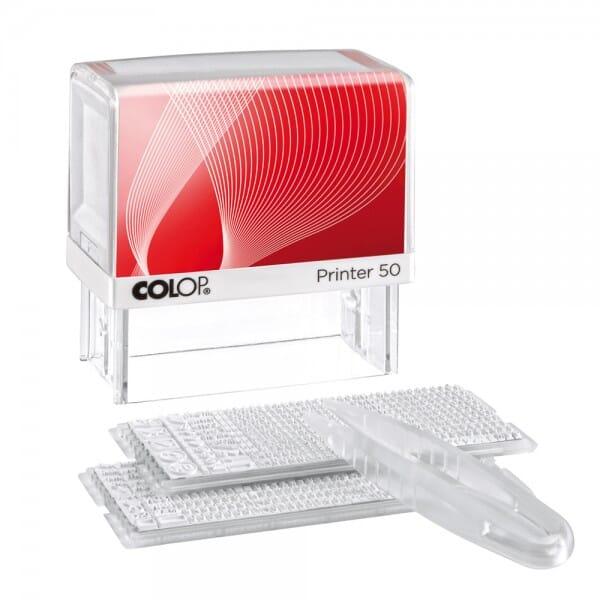 Colop Printer 50/2 SET (69x30 mm - 8 Zeilen)