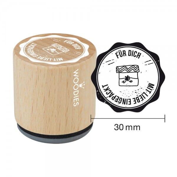 Woodies Stempel - Für Dich mit Liebe eingepackt