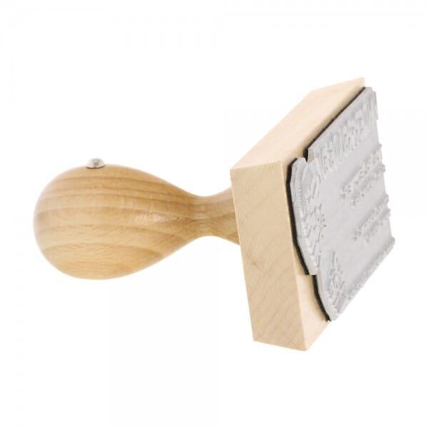 Holzstempel (90x50 mm - 9 Zeilen)