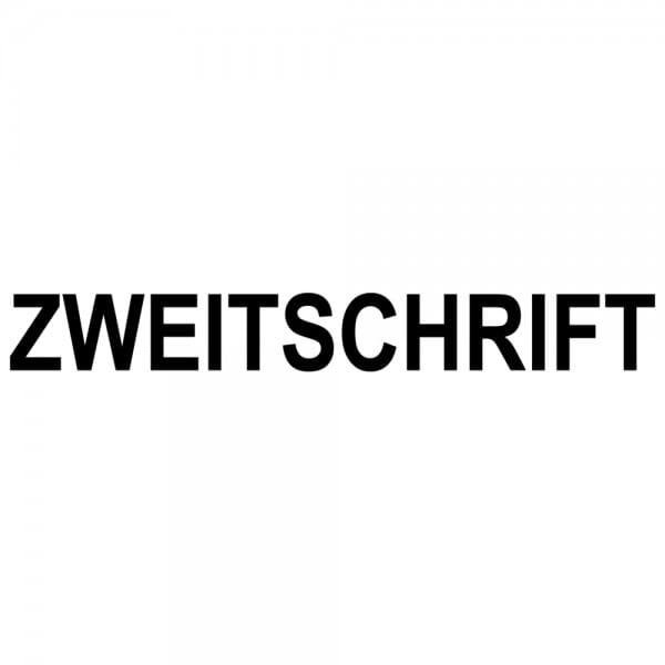"""Dormy Imprint 11 Lagertext """"Zweitschrift"""" (37x14 mm - 1 Zeile)"""