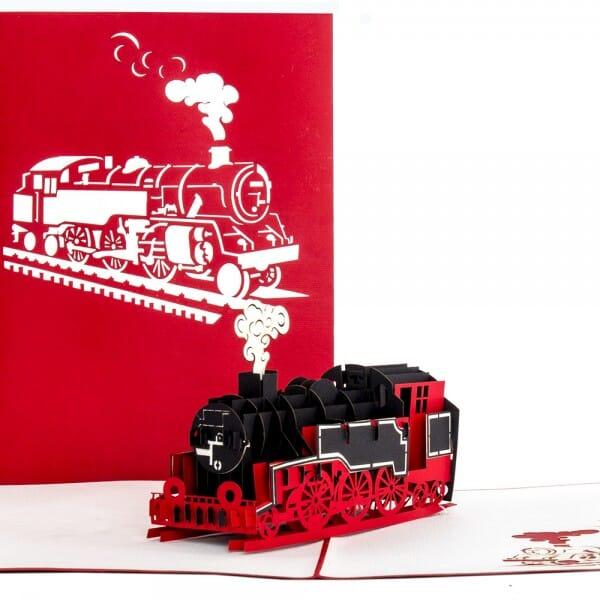 Colognecards Pop-Up Karte Lokomotive