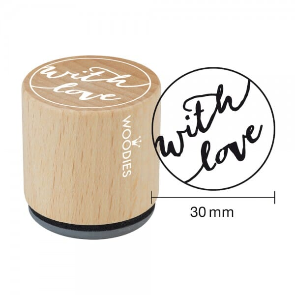 Woodies Stempel - With love Motiv 2 W04007