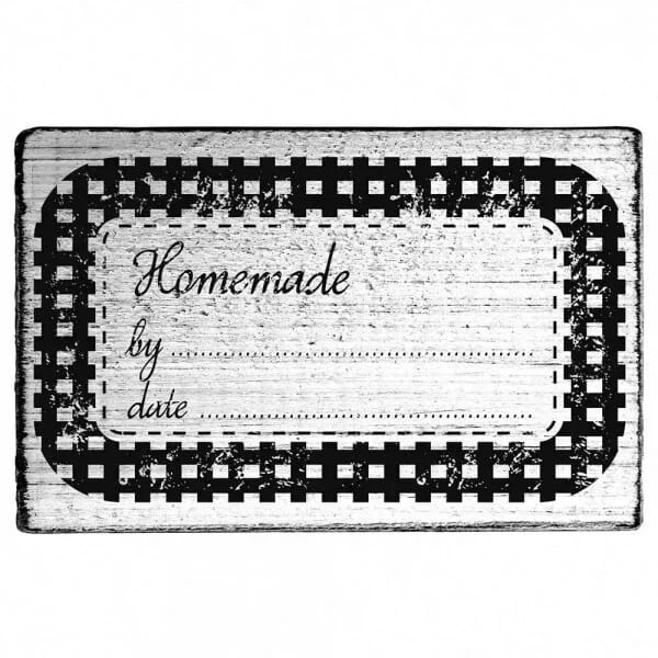 "Vintage Stempel ""Homemade by... Date.."""
