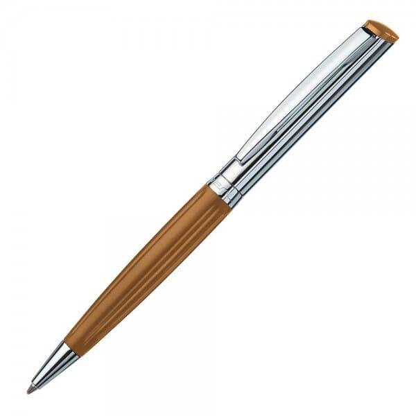 Heri Diagonal Wave 6281 Kugelschreiberstempel Braun/Silber (33x8 mm - 3 Zeilen)