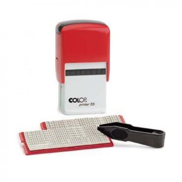 SALE - Colop Printer 55 SET ROT (60x40 mm - 10 Zeilen)