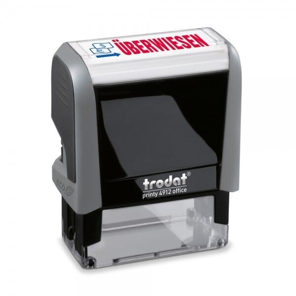 """Trodat Office Printy Textstempel """"Überwiesen"""" 4912 (47x18 mm)"""