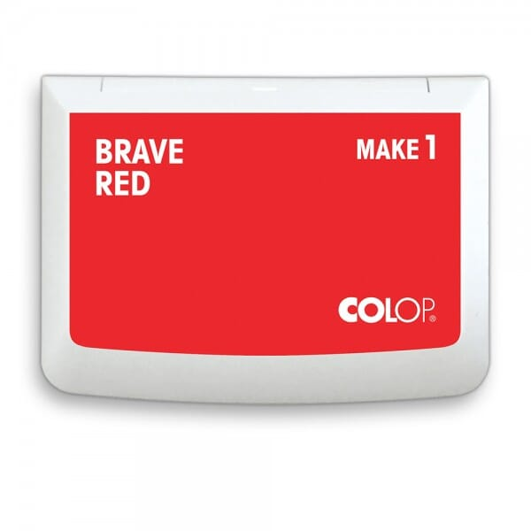 "COLOP Stempelkissen MAKE 1 ""brave red"" (90x50 mm)"