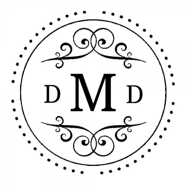 Monogrammstempel rund - Fantasiekreis