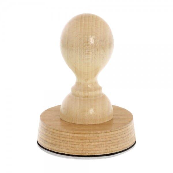 Holzstempel rund (Ø 60 mm - 12 Zeilen)