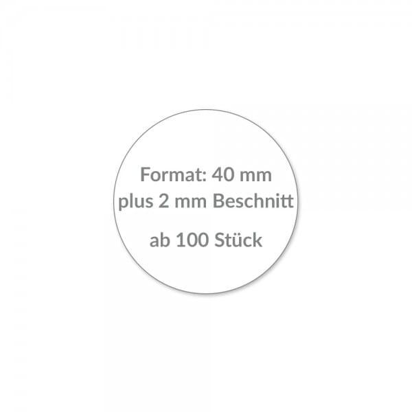 Individuelle Sticker rund 40 mm / CMYK Lösemittel Digitaldruck bei Stempel-Fabrik