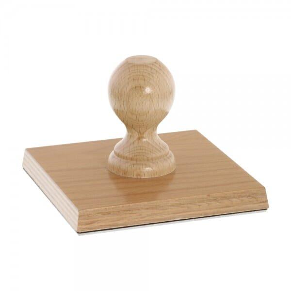 Holzstempel (140x140 mm - 25 Zeilen)