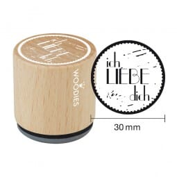Woodies Stempel - Ich liebe Dich