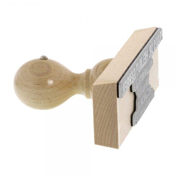 Holzstempel (170x40 mm - 8 Zeilen)